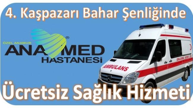 Şenlikte, ANAMED Hastanesinden Ücretsiz Sağlık Hizmeti
