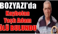 Bozyazı'da Yaşlı Adam Ölü Bulundu