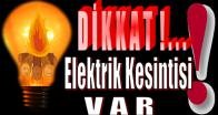 Anamur'da,Pazartesi Günü 3 Mahallede Elektrik Kesintisi