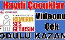 """"""" KEMERİN SES GETİRSİN """" Videonu Yolla , Hediyeni Kap"""