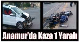 Anamur'da Trafik Kazası ; 1 Yaralı