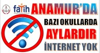 Anamur'da Bazı Okullarda Aylardır İnternet Yok