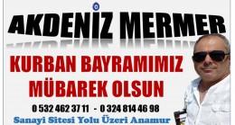 "AKDENİZ MERMER'DEN "" KURBAN BAYRAMI MESAJI """