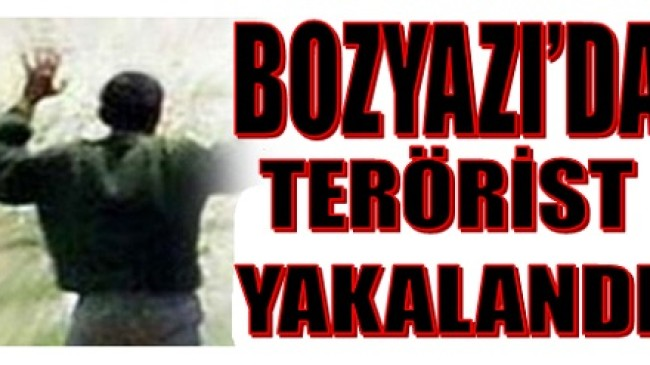 Aranan Terörist Bozyazı'da Yakalandı