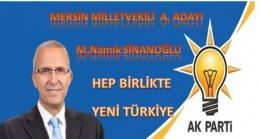 M.Namık Sinanoğlu Ak Parti'den A. Adayı