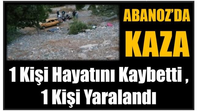 ABANOZ'DA KAZA ; 1 Kişi Hayatını Kaybetti,  1 Kişi Yaralandı