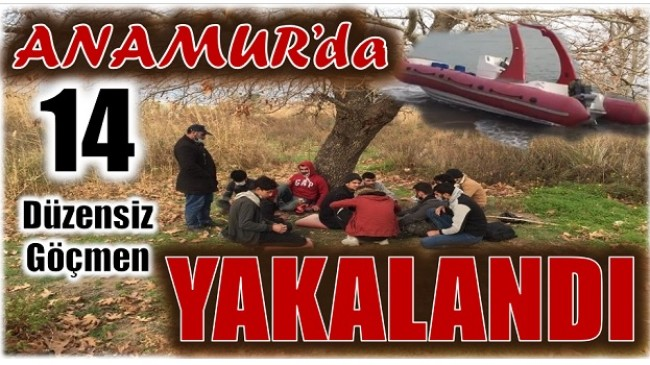 Anamur'da 14 Düzensiz Göçmen Yakalandı