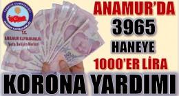 ANAMUR'DA 3965 HANEYE KORONA YARDIMI
