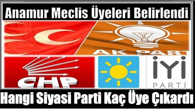 Anamur'da Belediye Meclis Üyeleri Belirlendi