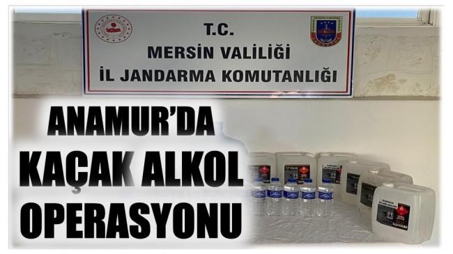 ANAMUR'DA KAÇAK ALKOL OPERASYONU