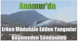 Erken Müdahale Anamur'da Orman Yangınını Önledi