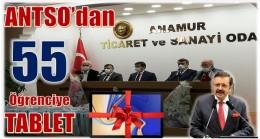 ANAMUR TİCARET ODASINDAN ÖĞRENCİLERE 55 TABLET