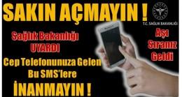 """DİKKAT ! Dolandırıcılar """" AŞI SIRANIZ GELDİ """" Mesajı Gönderiyor"""