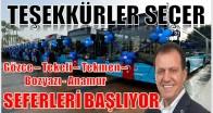 Mersin Büyükşehir Belediyesinden Gözce-Tekeli-Tekmen-Bozyazı- Anamur Otobüs Seferleri Başlıyor