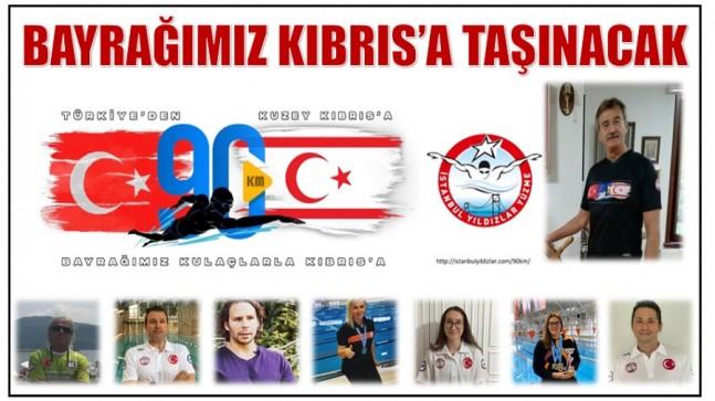 Bayrağımız Kulaçlarla Anamur'dan Kıbrıs'a Taşınacak