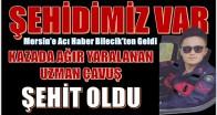 MERSİN'E ACI HABER BİLECİK'TEN GELDİ; ŞEHİDİMİZ VAR