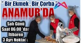 """""""1 Ekmek 1 Çorba """" Anamur'da"""