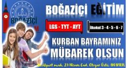 "BOĞAZİÇİ EĞİTİM "" KURBAN BAYRAMI MESAJI """