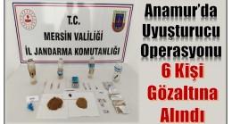UYUŞTURUCU OPERASYONU ; 6'sı Anamur'dan 11 Gözaltı
