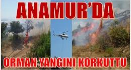 Anamur'da Yangın Panik Yarattı