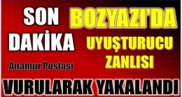 """Bozyazı'da , Jandarmanın """"DUR"""" İhtarına Uymayan Şüpheli Vurularak Yakalandı"""