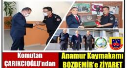 """Komutanlarımız ÇARIKCIOĞLU ve ŞEN'den Anamur Kaymakamı BOZDEMİR'e """" Hoş Geldin """" Ziyareti"""