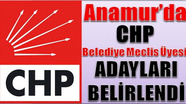 Anamur'da CHP Meclis Üyesi Adayları Belirlendi