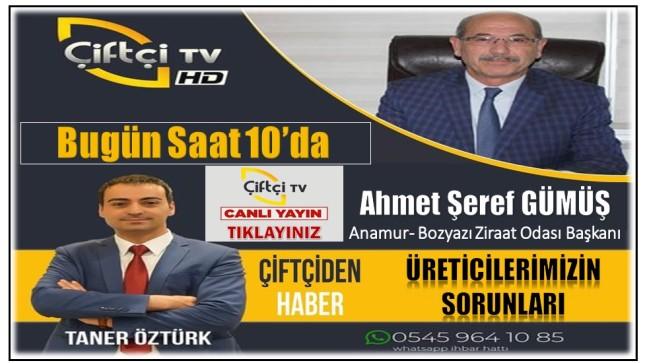 """GÜMÜŞ, Çiftçi Tv'de """"Çiftçiden Haber """" Programına Konuk Olacak"""