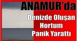 Anamur'da Denizde Oluşan Hortum Panik Yarattı