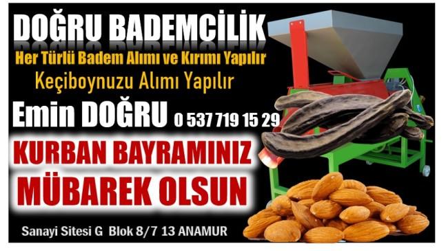 """DOĞRU BADEMCİLİKTEN """" KURBAN BAYRAMI MESAJI """""""