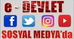 e-DEVLET SOSYAL MEDYADA