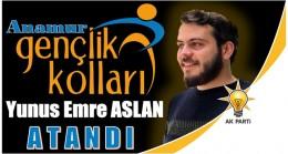 AK PARTİ Anamur Gençlik Kolları Başkanlığına ASLAN Atandı