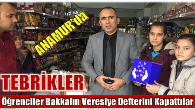 """ANAMUR'LU ÖĞRENCİLER """" BAKKALIN VERESİYE DEFTERİNİ SATIN ALDILAR """""""