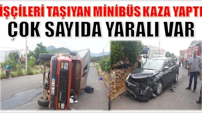 Tarım İşçilerini Taşıyan Araç Kaza Yaptı; Çok sayıda yaralı var