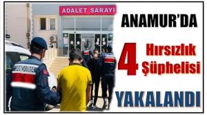 Anamur'da,Kapı ve Pencereleri Kırarak Evlere Giren 4 Hırsızlık Şüphelisi Yakalandı