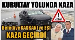 KURULTAY YOLUNDA KAZA; Başkan ve Eşi Yaralandı