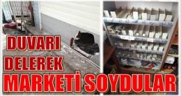 ANAMUR'DA,DUVARI DELİP MARKETİ SOYDULAR
