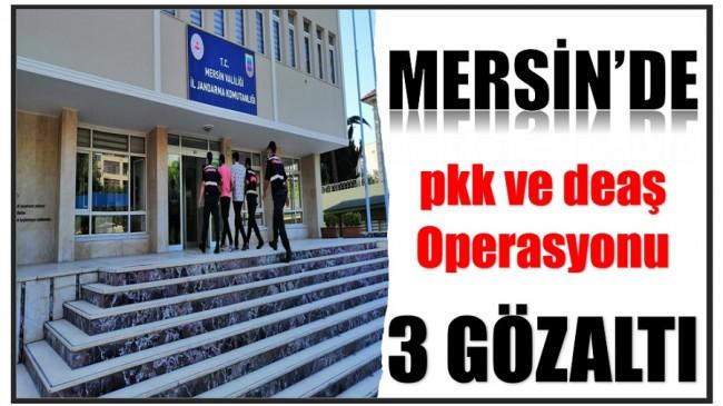 Mersin'de Jandarmadan PKK ve DEAŞ Operasyonu: 3 Gözaltı.