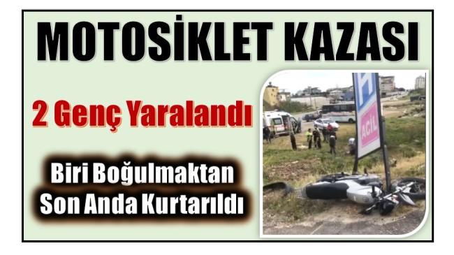 Anamur'da Motor Kazası : 2 Genç Yaralandı