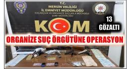 Organize Suç Örgütüne Operasyon ; 13 GÖZALTI