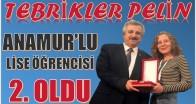 """ANAMUR'LU ÖĞRENCİ """"KISA FİLM""""YARIŞMASINDA İKİNCİ OLDU"""