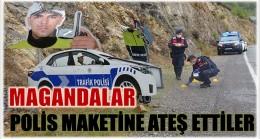 Polis Maketine Pompalı ile Ateş Ettiler