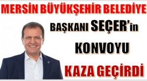 Başkan SEÇER'in Konvoyu Ankara Yolunda Kaza Yaptı