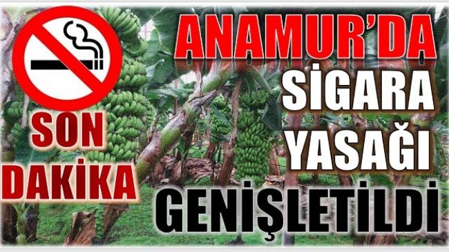 DİKKAT ! ANAMUR'DA SİGARA YASAĞI GENİŞLETİLDİ