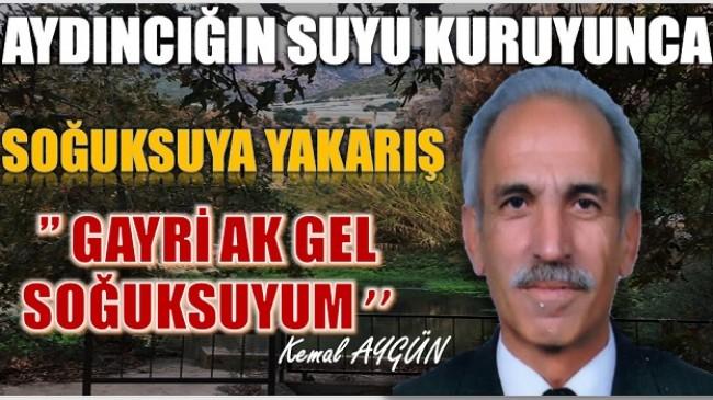 """SOĞUKSUYA YALVARIŞ ŞİİRİ """" GAYRİ AK GEL SOĞUKSUYUM"""""""