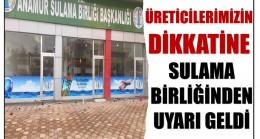 """SULAMA BİRLİĞİ UYARDI ! """" SULAMA SUYUNDA KISTLAMAYA GİDİLECEK """""""