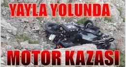 MOTOR KAZASI ; 1 AĞIR YARALI