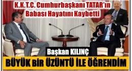KKTC Cumhurbaşkanı TATAR'ın Babası Hayatını Kaybetti