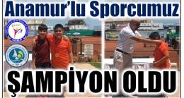 Anamur'lu Sporcumuz Turnuvada Şampiyon Oldu