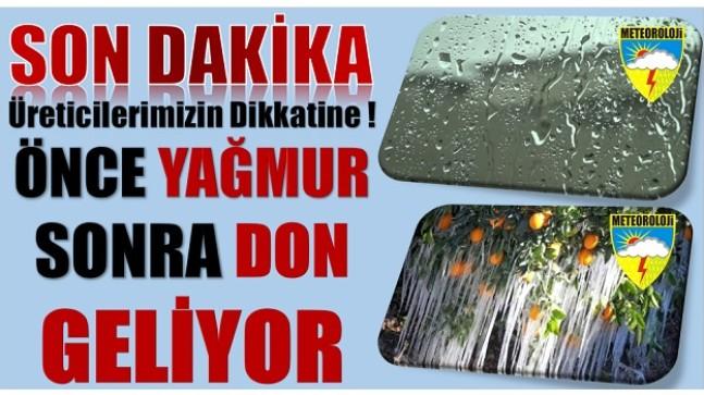 DİKKAT ! Yağmur ve Soğuk Hava Etkili Olacak